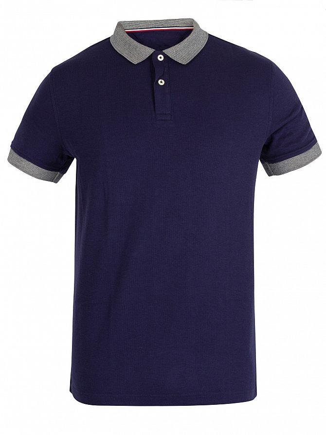 3932b6a230e Tommy Hilfiger Men's End To End Tipped Polo Shirt, Blue   eBay
