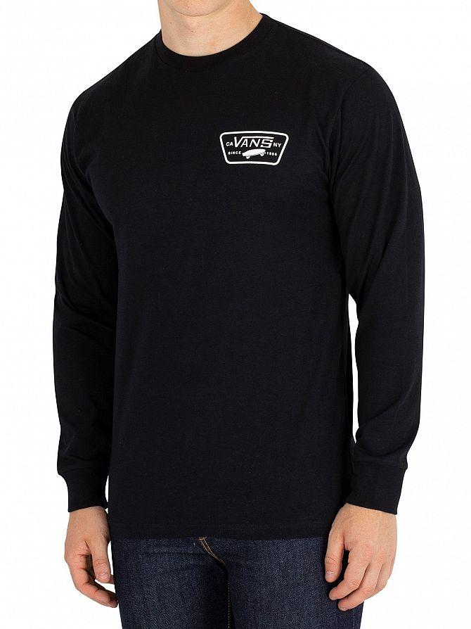 Vans Black/White Full Patch Longsleeved T-Shirt