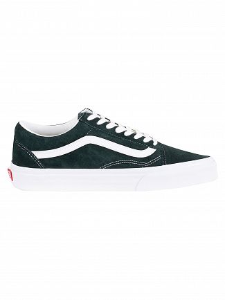 Vans Darkest Green Old Skool Suede Trainers