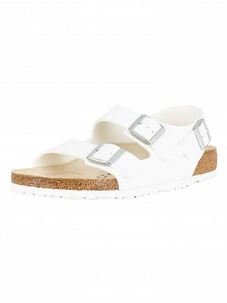Birkenstock White Milano Leather Sandal