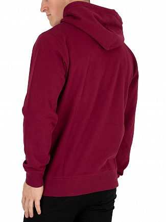 Carhartt WIP Mulberry/White College Pullover Hoodie