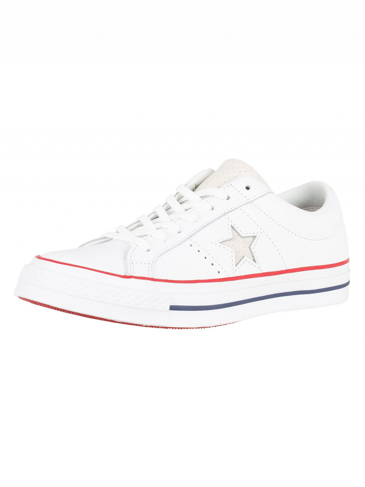 check out 72a77 b5d25 Converse White Gym Red White One Star Ox Leather Trainers