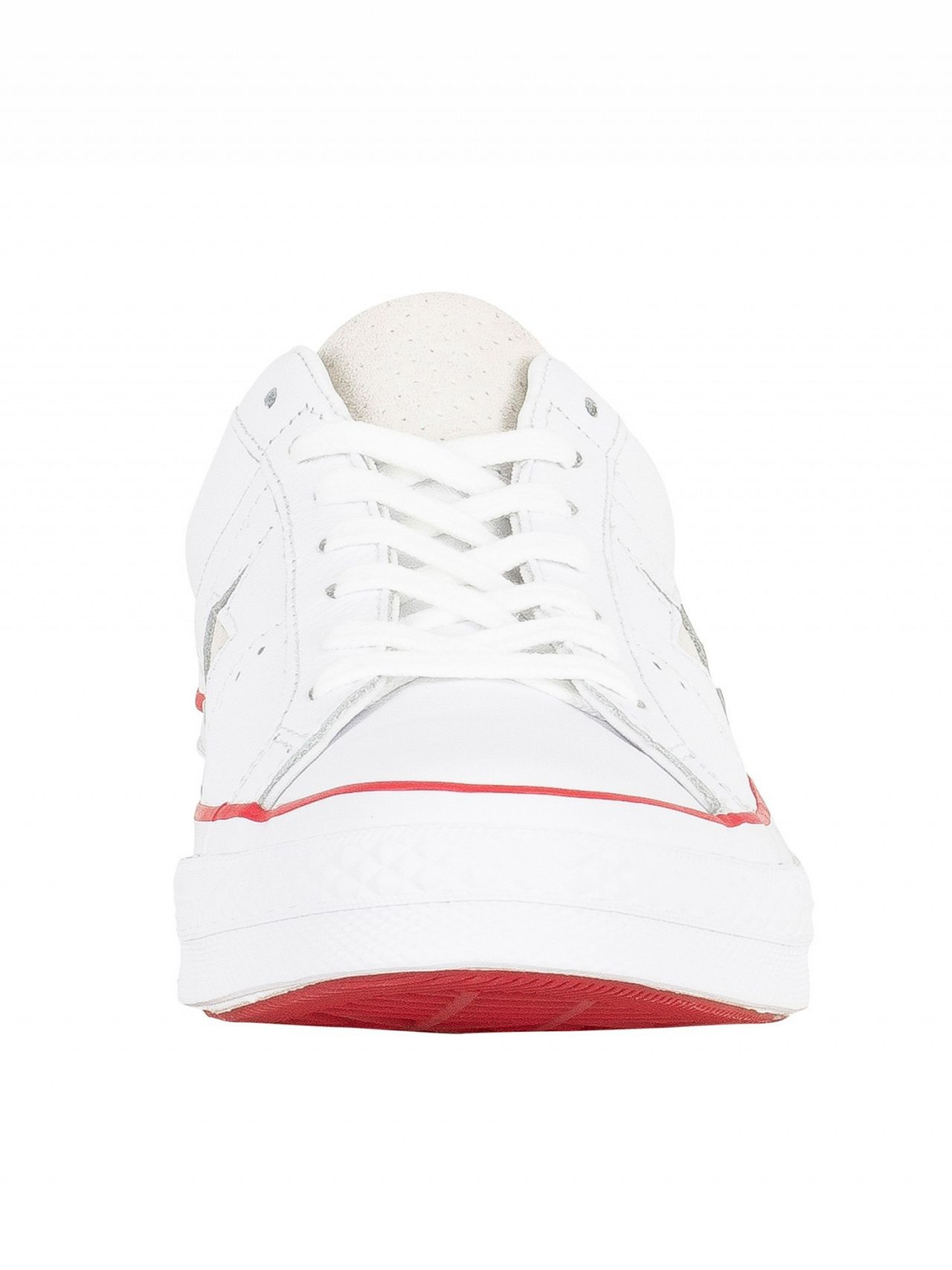6b0c4535c935b7 Converse White Gym Red White One Star Ox Leather Trainers