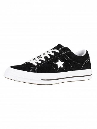 Converse Black/White/White One Star Ox Suede Trainers