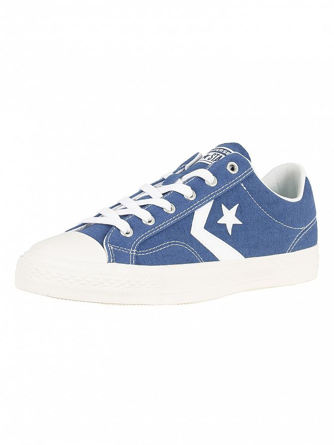Converse Mason Blue/White Star Player Ox Canvas Trainers