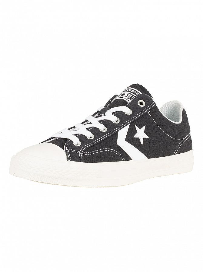 Converse Black/White Star Player Ox Canvas Trainers