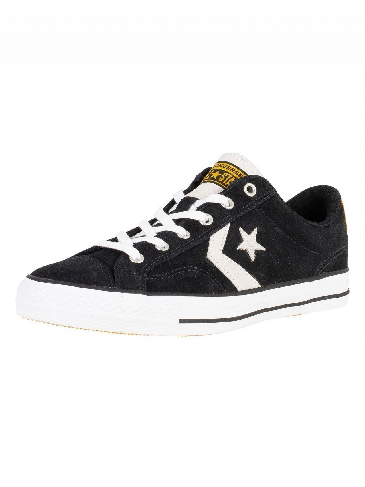 Converse Black White White Star Player Ox Suede Trainers  b5b4af47a