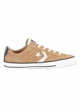 Converse Teak/Navy/White Star Player Ox Suede Trainers