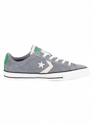 Converse Cool Grey/White Star Player Ox Suede Trainers