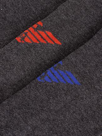 Emporio Armani Grey 3 Pack Inside Socks