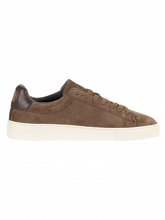Gant Mud Brown Major Suede Trainers