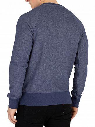 Gant Dark Jeans Blue Melange Original Sweatshirt