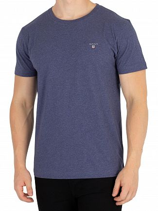 Gant Dark Jeans Blue Melange Original T-Shirt