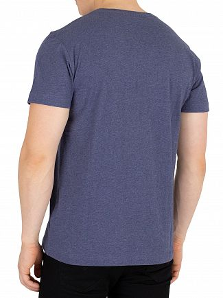 Gant Dark Jeans Blue Melange Original T-Shirt