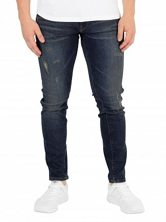 G-Star Dark Aged Antic Destroy 3301 Deconstructed Skinny Jeans