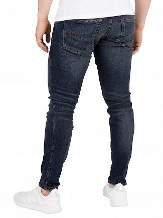 G-Star Dark Aged Antic Destroy 3301 Deconstructed Skinny Jeans