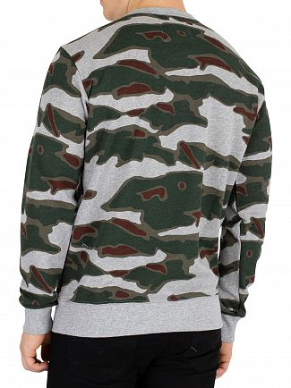 G-Star Grey Heather/Dark Vermont Green Sverre Core Sweatshirt