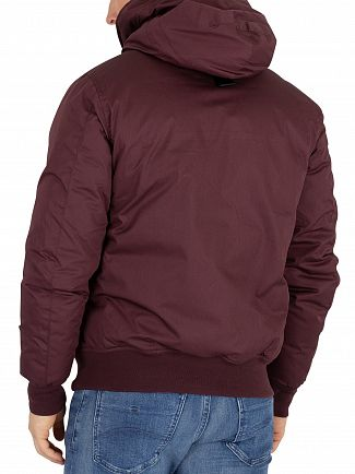 G-Star Dark Fig Whistler Hooded Bomber Jacket