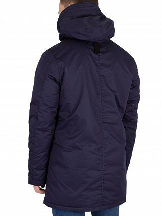 G-Star Sartho Blue Whistler Sherpa Parka Jacket