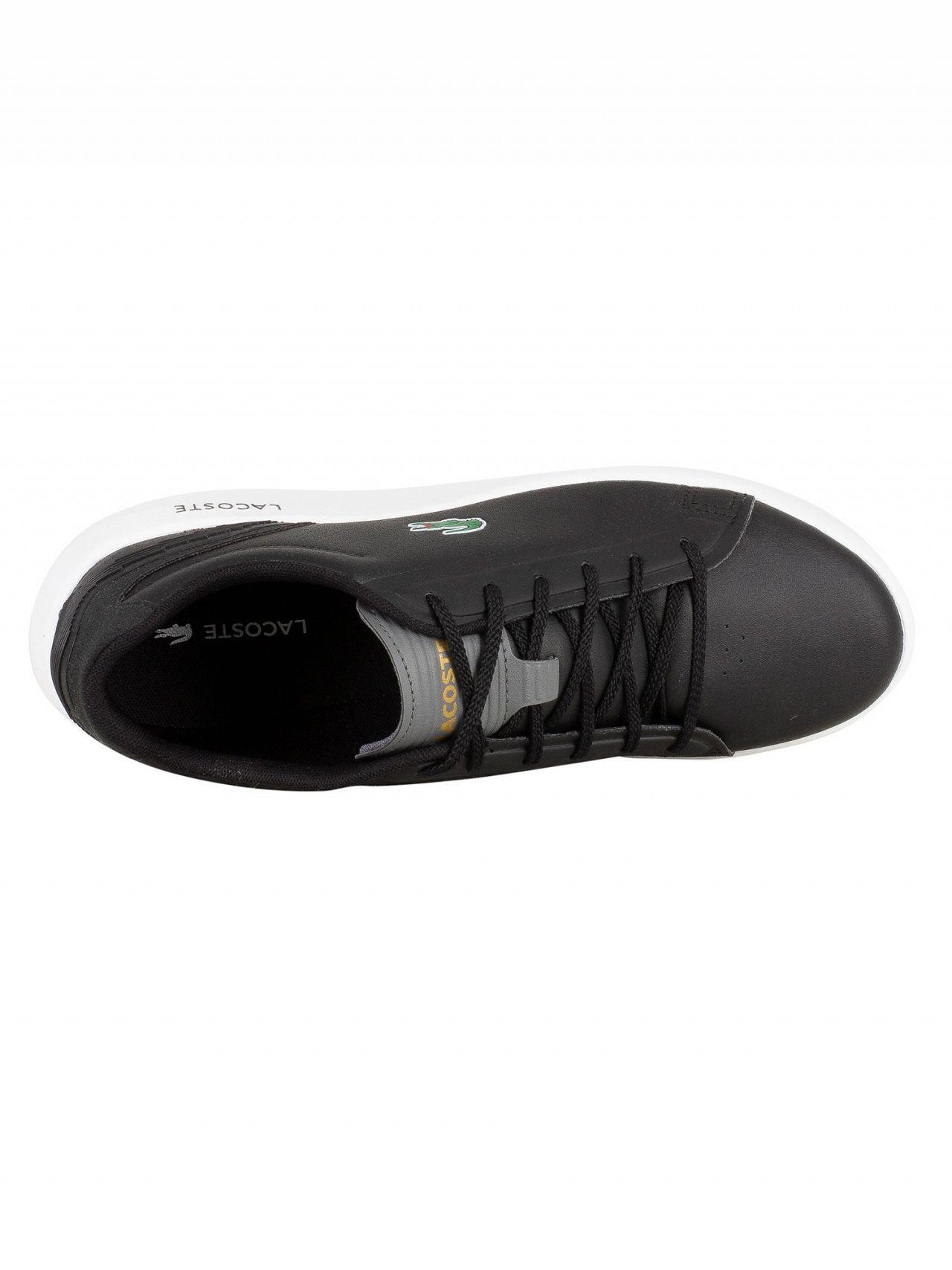 e3aa1375f60848 Lacoste Black Dark Grey Avantor 318 3 SPM Trainers