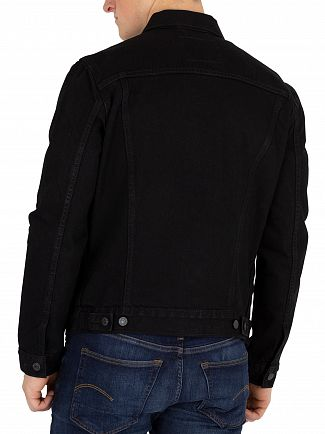 Levi's Black The Trucker Berk Jacket