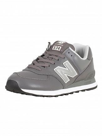 New Balance Grey 574 Leather Trainers
