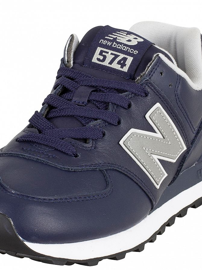 new balance 574 uomo pelle marrone