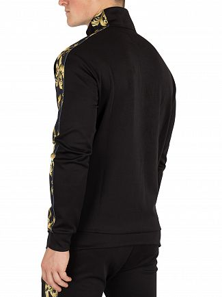 Sik Silk Black/Gold Venetian Half Zip Jacket