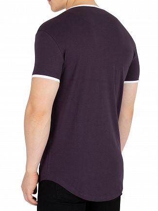 Sik Silk Navy Ringer Gym T-Shirt