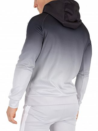Sik Silk Black & Grey Vapour Fade Pullover Hoodie