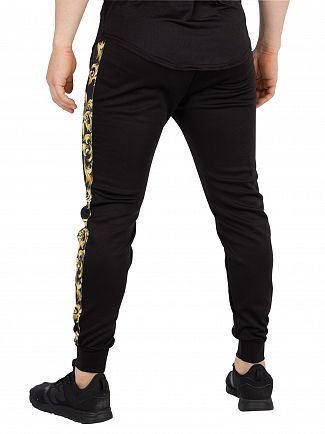 Sik Silk Black/Gold Venetian Taped Cropped Joggers