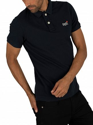 Superdry Eclipse Navy Classic Pique Polo Shirt