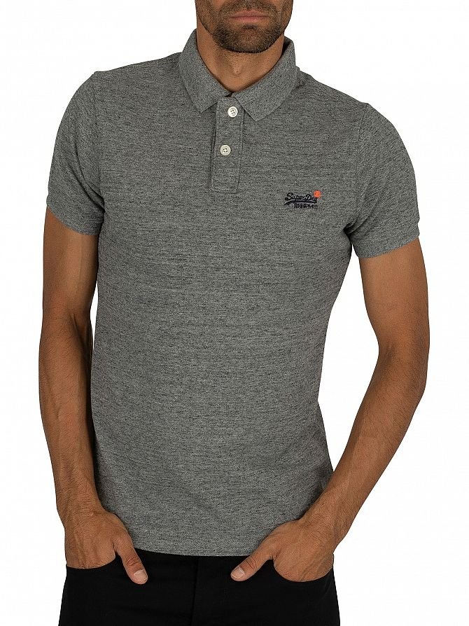 Superdry Flint Steel Grit Classic Pique Polo Shirt