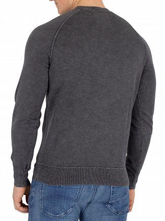 Superdry Washed Cinder Black Garment Dye L.A Sweatshirt