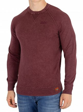 Superdry Washed Dark Port Garment Dye L.A Sweatshirt