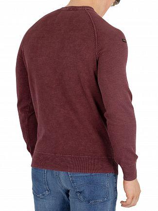Superdry Washed Dark Port Garment Dye L.A Sweatshirt
