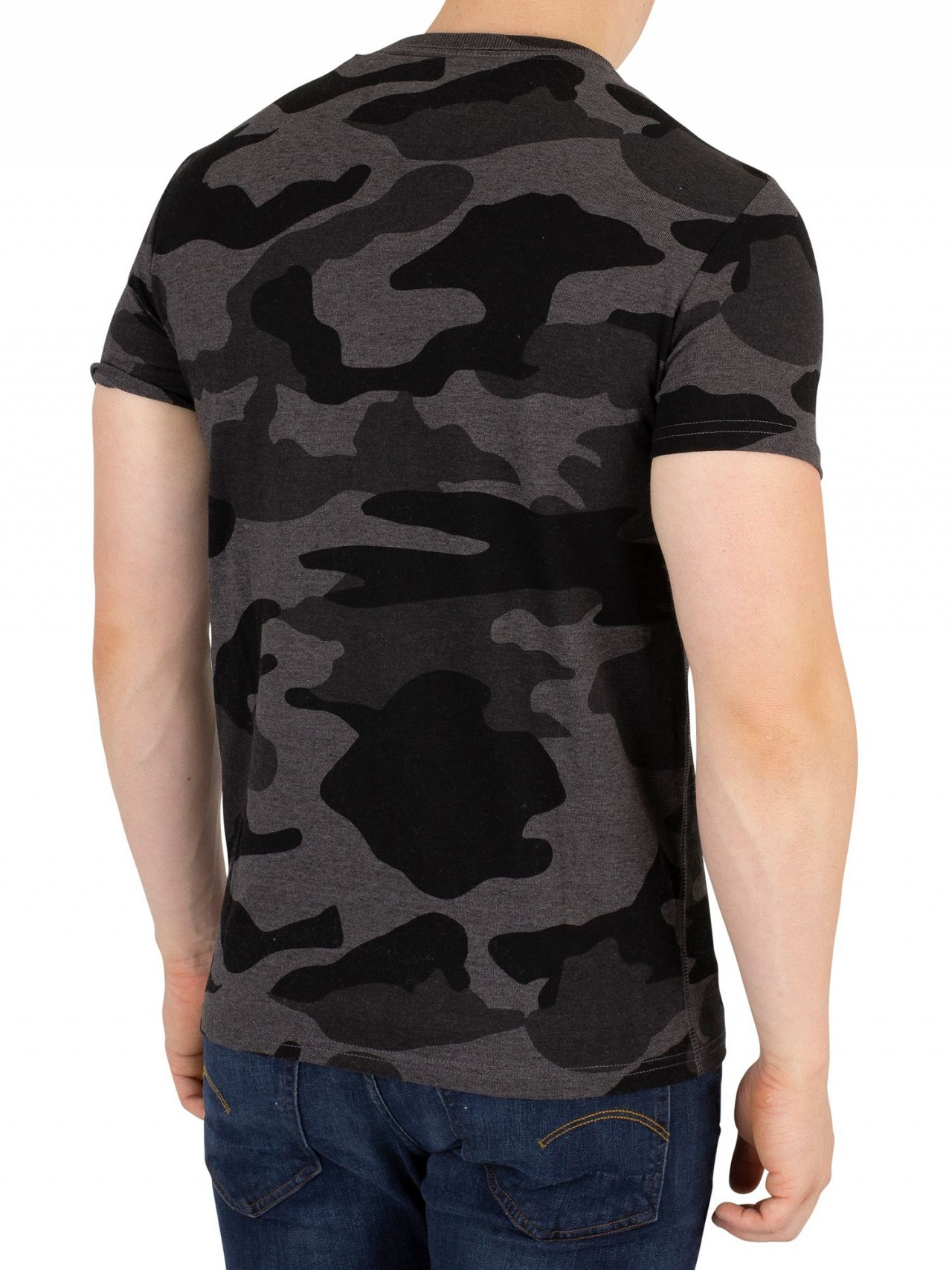 50432092 Superdry Urban Grey Camo Orange Label Vintage EMB T-Shirt | Standout