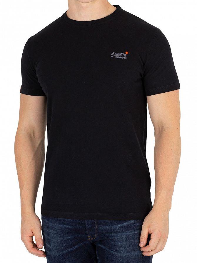 Superdry Black Orange Label Vintage EMB T-Shirt