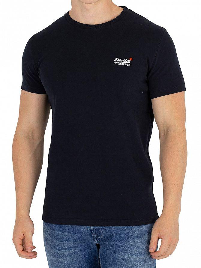 Superdry Eclipse Navy Orange Label Vintage EMB T-Shirt