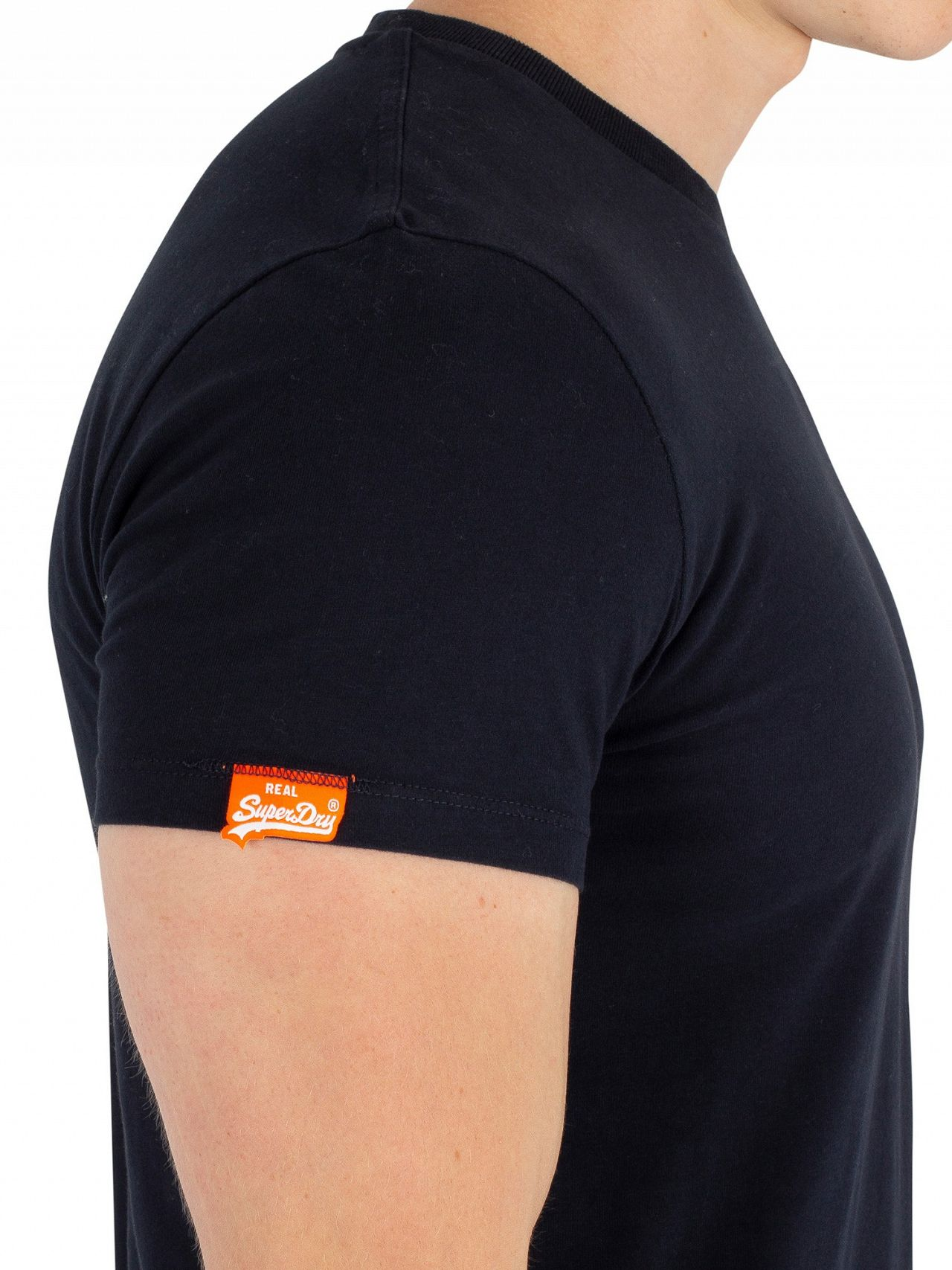 4e64c27d Superdry Eclipse Navy Orange Label Vintage EMB T-Shirt | Standout