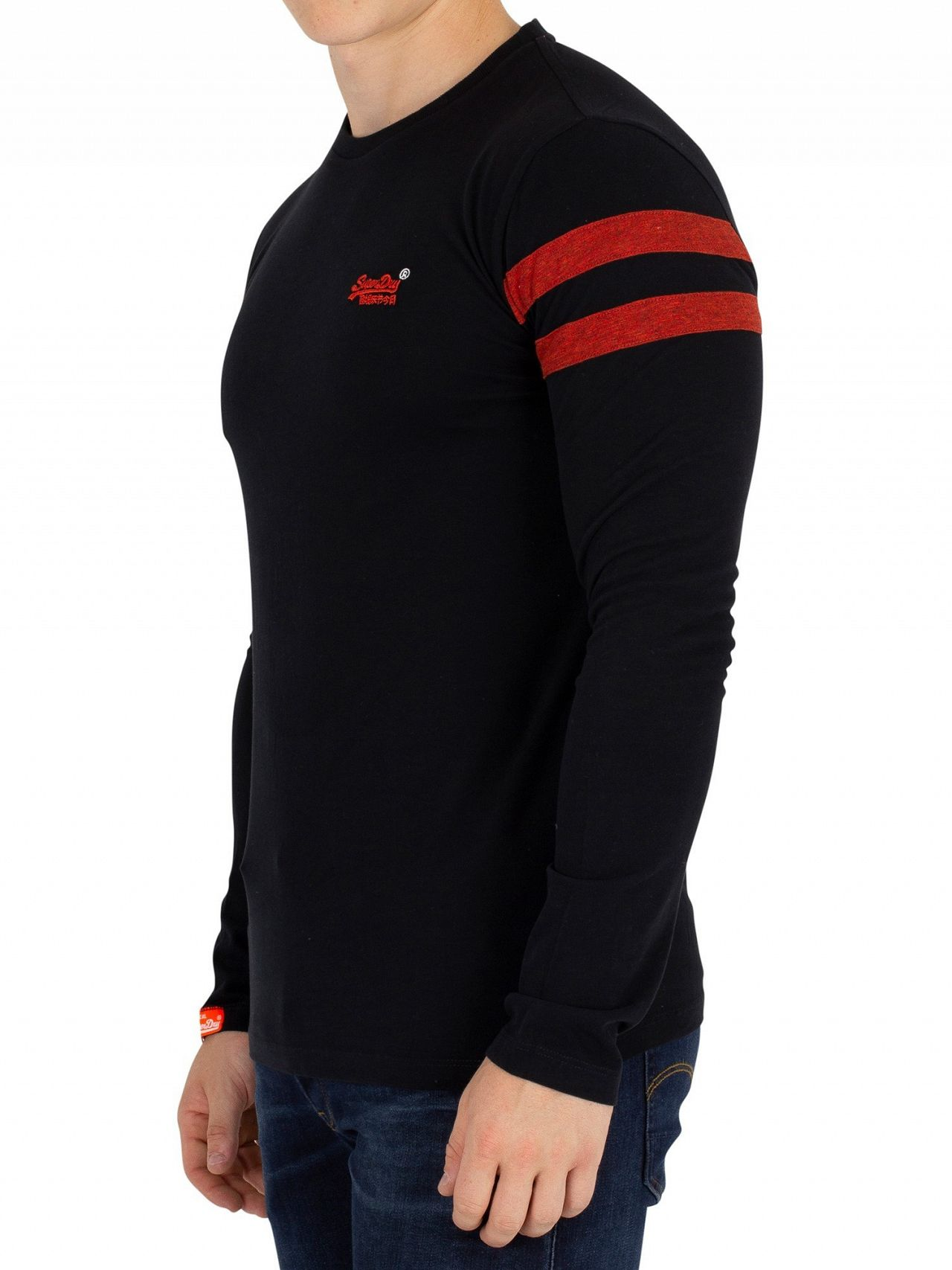 82bb96ce Superdry Black Softball Longsleeved Ringer T-Shirt   Standout