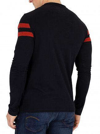 Superdry Black Softball Longsleeved Ringer T-Shirt