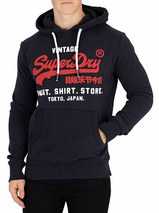 Superdry Eclipse Navy Sweat Shirt Shop Duo Pullover Hoodie