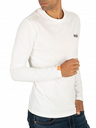 Superdry Optic White Vintage Embroidery Longsleeved T-Shirt