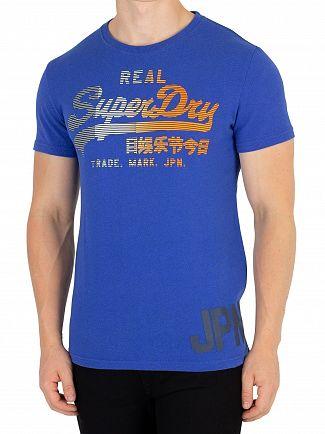 Superdry Portland Cobalt Grit Vintage Logo T-Shirt