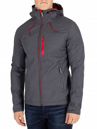Superdry Graphite Marl/Red Windtrekker Jacket