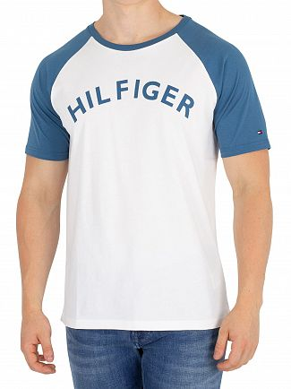 Tommy Hilfiger Blue Ashes Logo Raglan T-Shirt