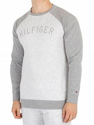 Tommy Hilfiger White Heather Longsleeved Graphic T-Shirt