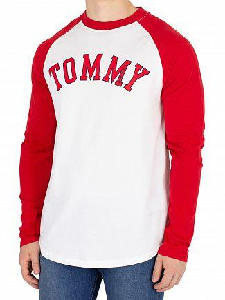 Tommy Jeans Samba/Classic White Raglan Baseball T-Shirt