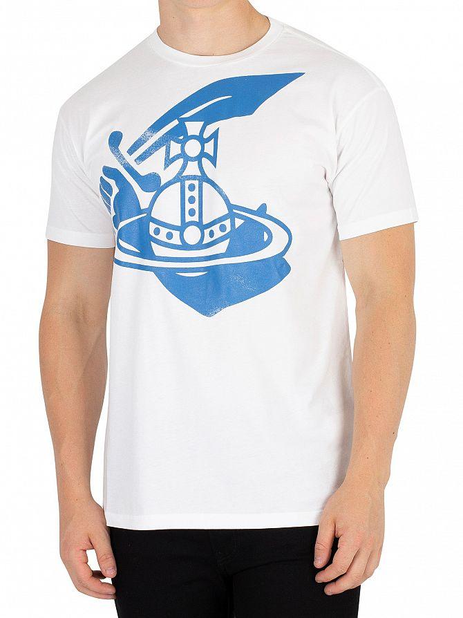 Vivienne Westwood White Boxy Arm & Cutlass Print T-Shirt